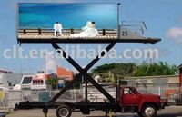 P10RGB mobile led billboards truck