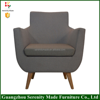 2016 best selling foshan furniture wooden legs modern chaise lounge chair living room furniture