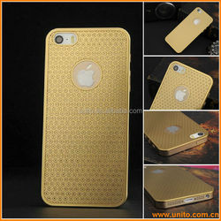 Mobile Phone Luxury sun flower Brushed Metal Hard Case For iPhone 5 5G