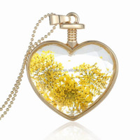Latest designhot new glass locket meaningful pendant necklace jewelry, fashion necklace 150N37