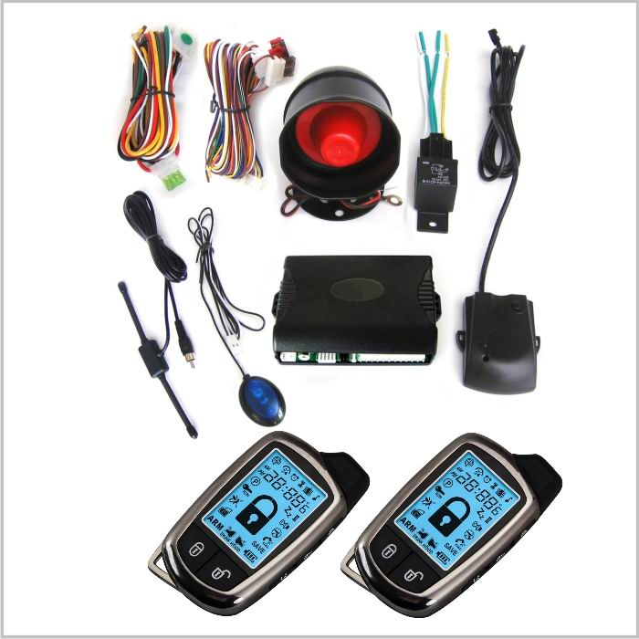 Lixing factory price remote starter direct start FM 2 way car alarm security system