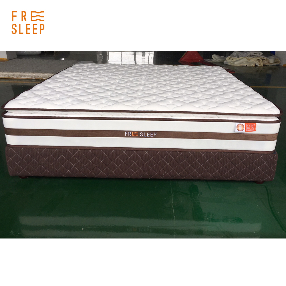 Cheap price king queen plush 11inch Pillow top Hotel Hybrid Mattress pocket spring - Jozy Mattress | Jozy.net