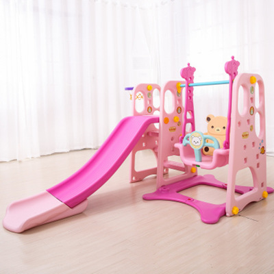 top quantity amusement park equipment home children room colorful kids indoor plastic slide and swing playground <strong>toys</strong>