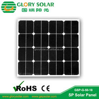 50W Glass Lamintaion PV Solar Panel Price Mady by Sunpower Solar Cell