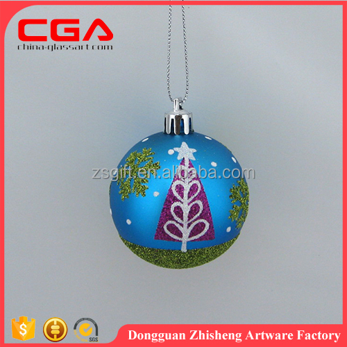 blue and hand painted Christmas ball Christmas ornaments