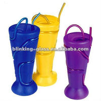 Plastic Goblet Tumbler straw cup