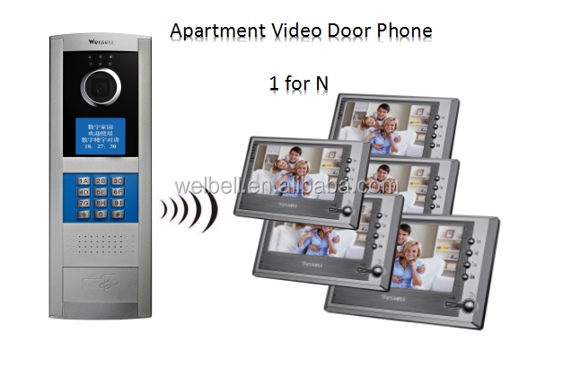 Linux Video Doorbell 4 Wire Wired Intercom Video Door Phone For Apartments