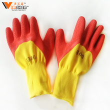 Manufacturers supply bleached labor dotted knitted China welding glove comfortable working thin cotton gloves for industrial use
