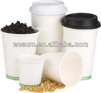 4oz to 24 oz disposable hot drink coffee paper cup with lid and sleeve