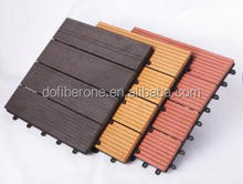 China cheap price embossed wood plastic composite floor deckings