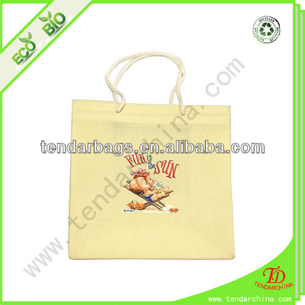 Non Woven Bag With PP Rope Handles Silk Screen Printing Plastic T Shirt Bag  Factory