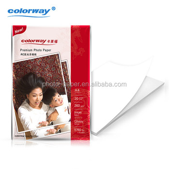 Leading manufacturer 115gsm to 260gsm cast coated glossy photo paper