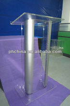 Modern Design Acrylic Metal Pulpit/Acrylic Lectern With Metal Corner on sale