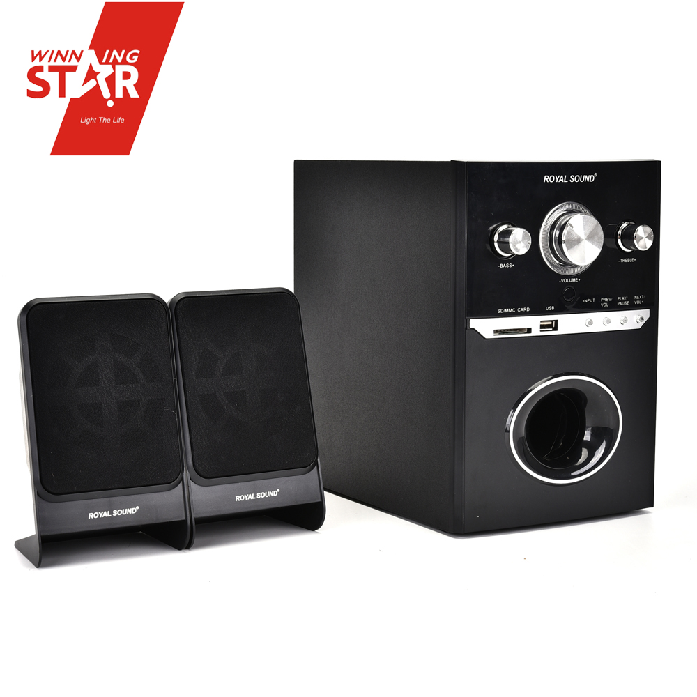 Super Bass Surround Woofer 2.1 Channel Hi-fi Amplifier Dj Home Theater Sound System