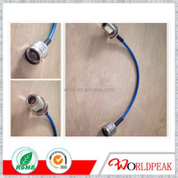 rf coaxial connector cable assembly n female bulkhead to n male with 141 jumper cable
