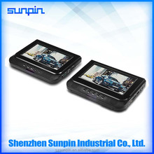 7 inch dual units car dvd player mounted headrest dvd player for different countries