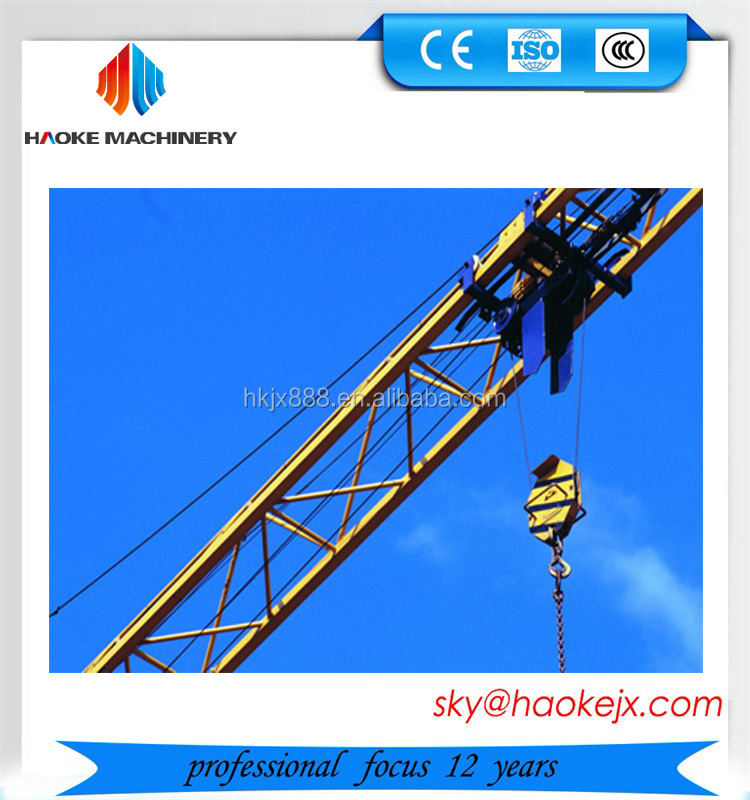 Hydraulic Building Crane QTZ125-5025 50m Jib Fixed Construction Tower Crane in India