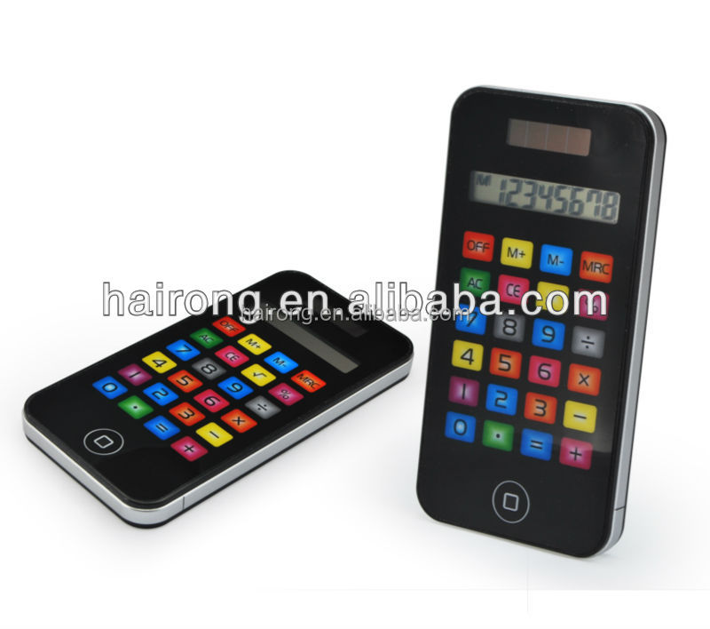 Hairong mobile phone shape 8 digits mini pocket size electronic calculator