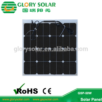 High Efficiency Back Contact Monocrystalline 50W 100W Semi Flexible Solar Panel For Portable Solar Panel Kit