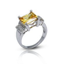 Fashion Yellow Diamond Rings,925 Silver Ring Jewelry