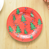 Luxury Party Supplies Disposable Ombre Paper Plates/The Christmas Tree Paper Plates