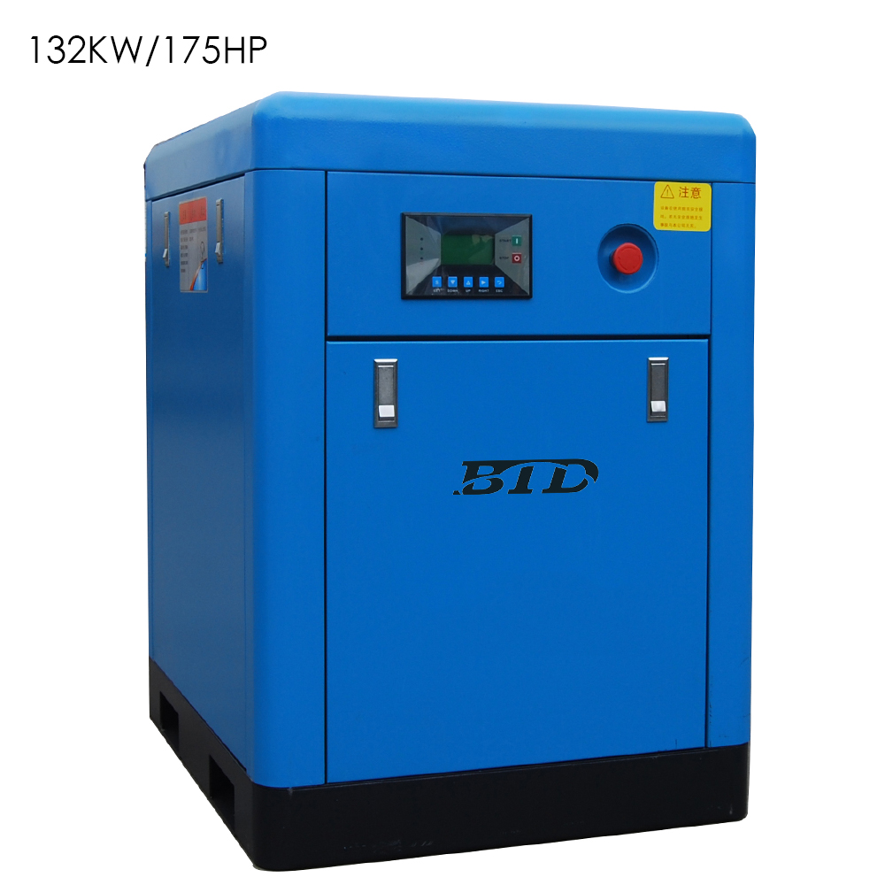 132kw 175hp 380v/60hz BTD 13bar 10m3/min capacity motor portable screw air compresor for sale