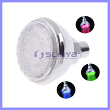 15PCS RGB LED Round 3 Inch Water Temperature Sensing LED Shower Head