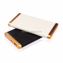 Fake leather design 6000mah power bank with led light charge indicator 5V 2A output lithium polymer battery charger Z202