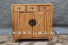 three drawer Two door Recycle wood furniture