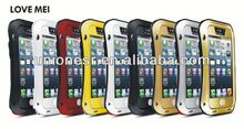 Love Mei Dirtproof/Waterproof/Shockproof Metal Aluminum Case For Iphone 5 5S+ Gorilla Glass