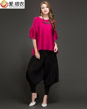 Hot fancy maternity clothes plus size women pregnant blouse with falbala sleeve
