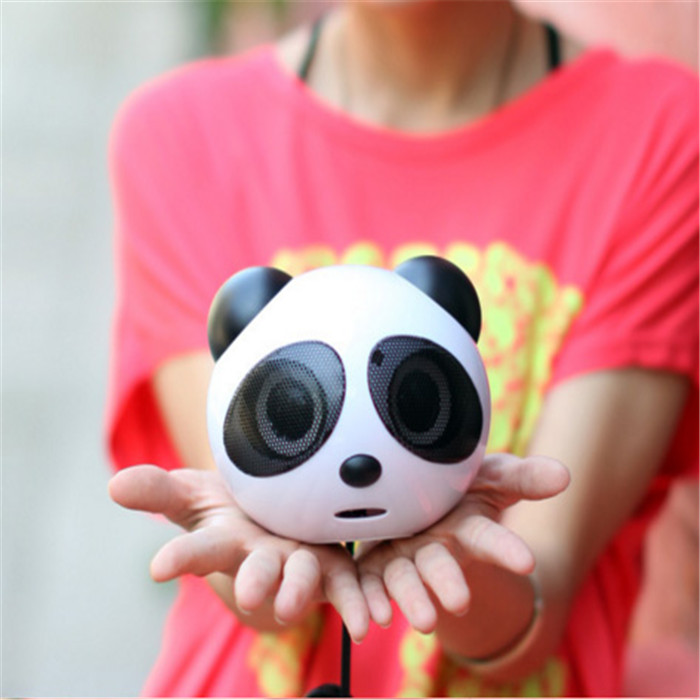Cheapest Mini creative Panda stereo multimedia computer Speaker box with usb interface