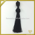 Black long fringes trim decorative window blind pull cord tieback tassel FT-038