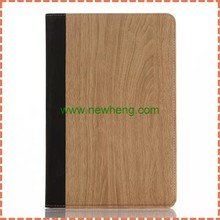 Ultra Thin Foldable Luxury Wood Grain Flip Stand Leather Original Case Smart Cover for ipad mini 4