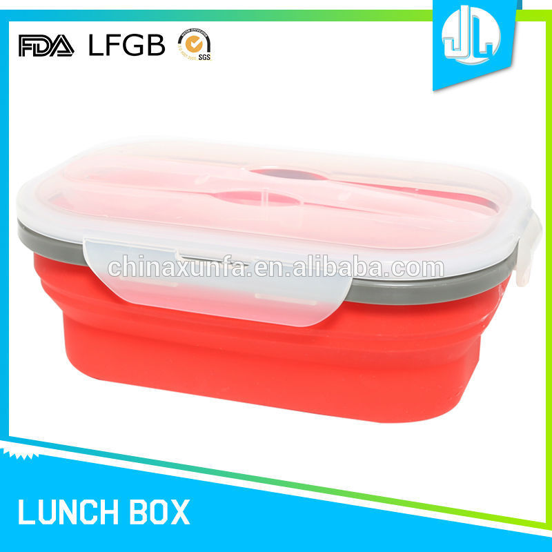 Cheap food grade silicon material colorful lunch box warmer
