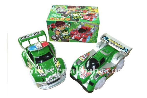 hot sell 15cm B/O BEN10 electric car toy/B/O car/battery operated BEN10 car