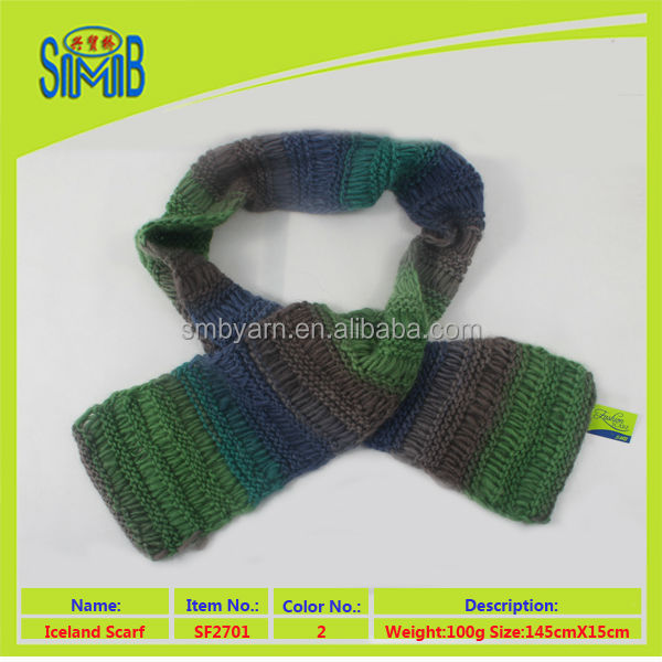2017 shanghai fashion wool scarf manufacturer smb good selling oeko tex warm laine scarf knitted by hand