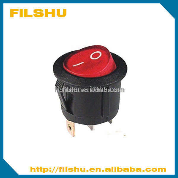 round mini coffee pot rocker switch with light