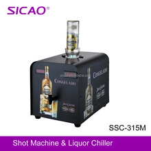 Metal Commercial Bar Fridge Freezer Table Top 1 Bottle Liquor Dispenser Chilled Shot Machine for Vodka Tequila Rum Whiskey
