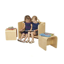 Factory price kids montessori school furniture study table and chair for students