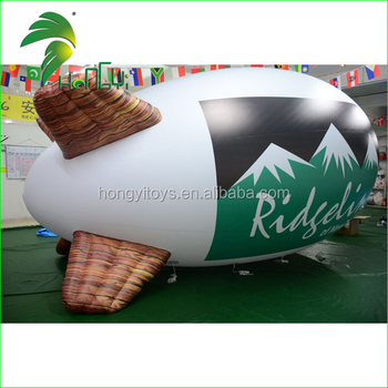 Hot Selling Zeppelin Helium Balloon , Advertising Inflatable Air Blimp Balloon For Promotion