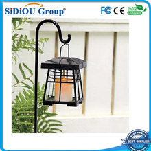 solar led candle wax lantern flickering light
