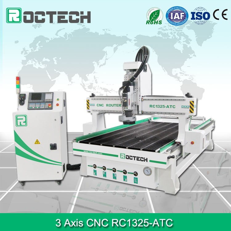 3D Low Price Frogmill Cnc Wood Router RC1325-ATC