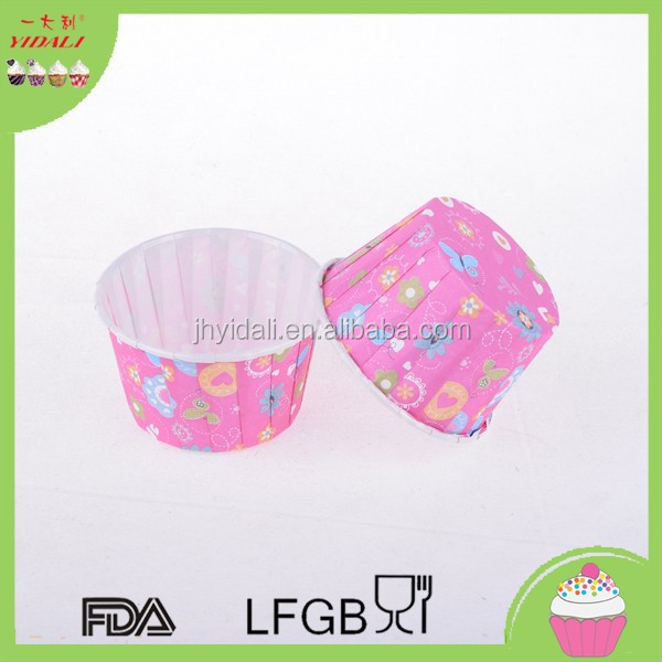 pink paper baking liners, butterfly baking paper liners,machine made baking liners