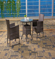 Aluminium frame rattan woven outdoor leisure chair furniture set wicker coffee table and garden seat