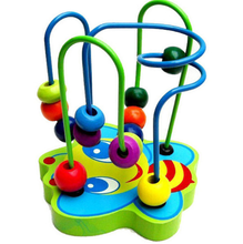 NEW Baby Toys Colorful Bead Maze Child Educational Toy Wooden Blocks Building Blocks Toy gift 1pc Free Shipping WJ304