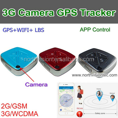 3G personal GPS tracker with falling down sos alarm camera