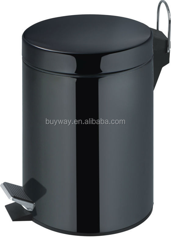 2015 China wholesale plastic dustbin with wheels pedal 20 litres