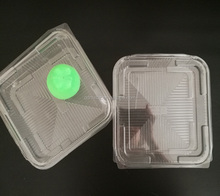 PET/PP disposable transparent cookie/cake plastic macaron container/box/packaging