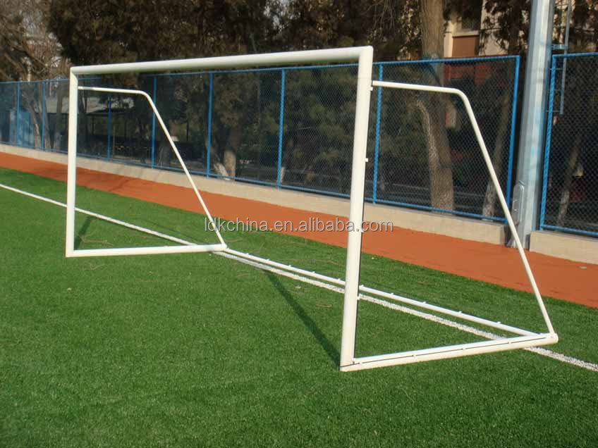Training portable aluminum soccer goal with shooting target